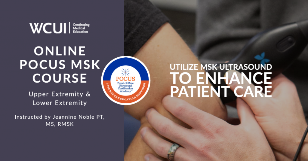Online POCUS MSK Course for Nonsonographers